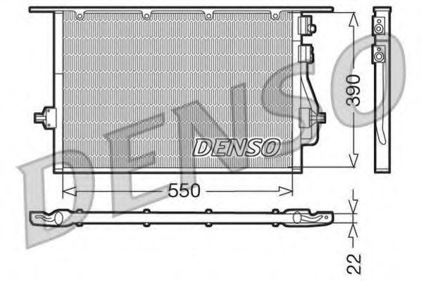 Радиатор кондиционера DENSO DCN10014