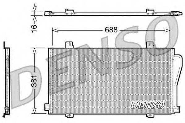 Радиатор кондиционера DENSO DCN23017