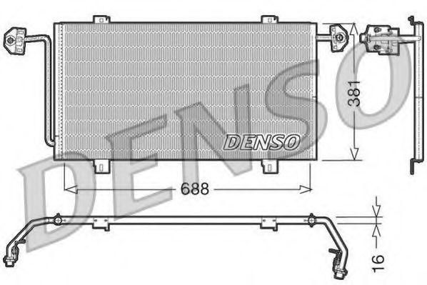 Радиатор кондиционера DENSO DCN23023