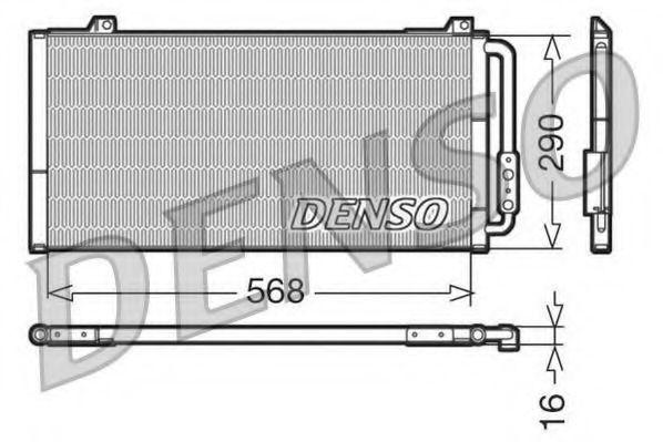 Конденсатор, кондиционер DENSO DCN24001