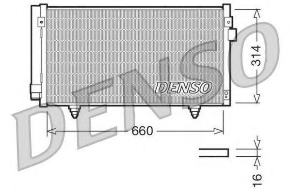 Радиатор кондиционера DENSO DCN36003