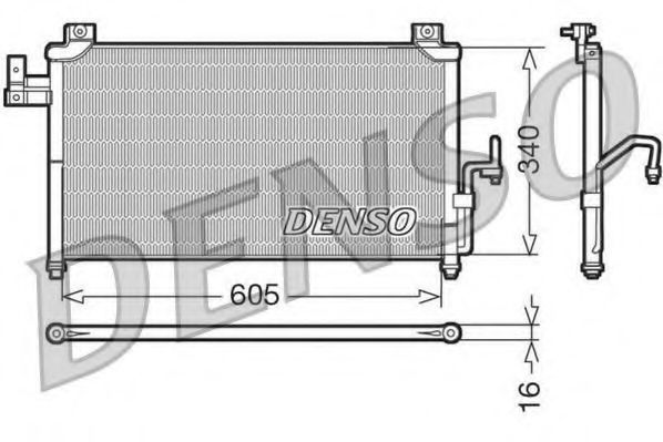 Конденсатор, кондиционер DENSO DCN44005