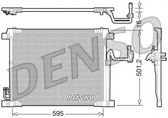 Радиатор кондиционера DENSO DCN46012
