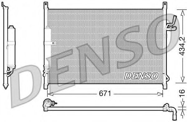 Конденсатор, кондиционер DENSO DCN46015