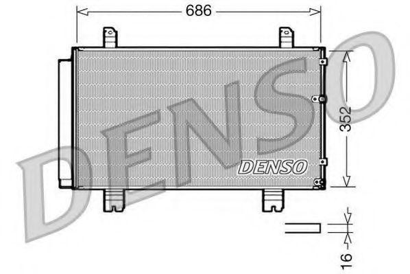 Конденсатор, кондиционер DENSO DCN51002