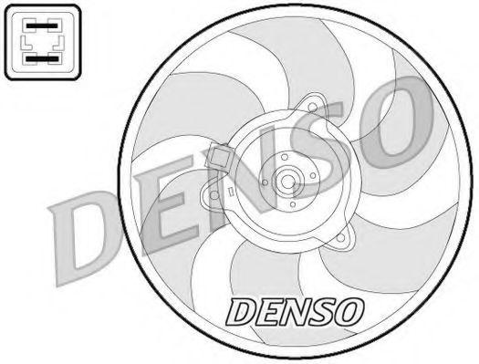 Вентилятор, охлаждение двигателя DENSO DER07008