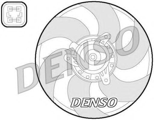 Вентилятор, охлаждение двигателя DENSO DER07009