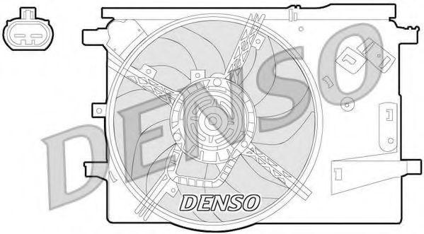 Вентилятор, охлаждение двигателя DENSO DER09053