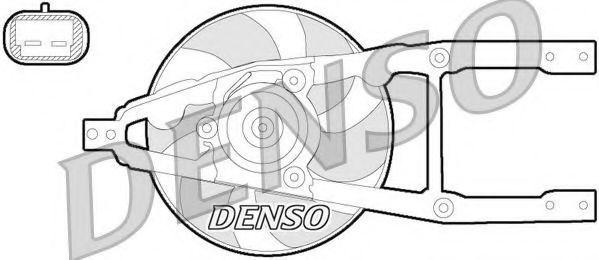 Вентилятор, охлаждение двигателя DENSO DER09055