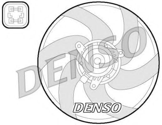 Вентилятор, охлаждение двигателя DENSO DER21022