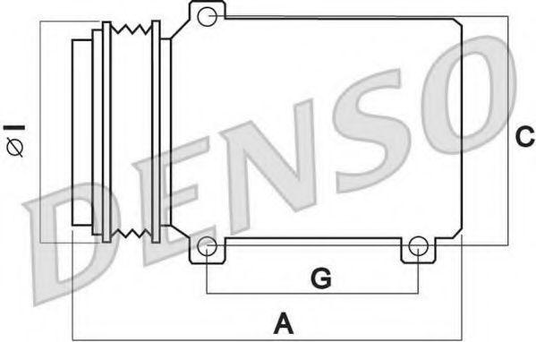 Компрессор кондиционера DENSO DCP02050