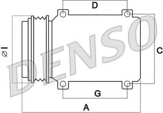 Компрессор, кондиционер DENSO DCP02001