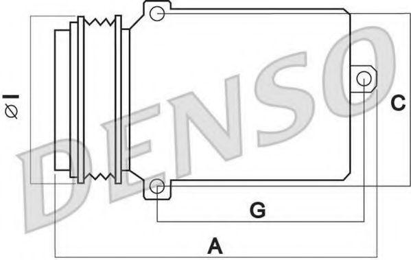 Компрессор кондиционера DENSO DCP02005