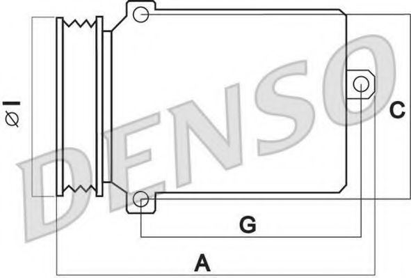 Компрессор кондиционера DENSO DCP02015