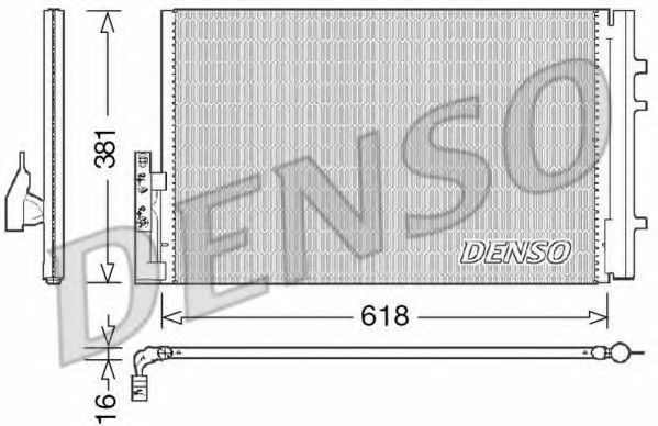 Конденсатор, кондиционер DENSO DCN05014