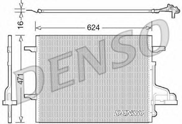 Конденсатор, кондиционер DENSO DCN10027