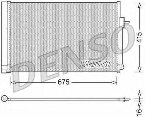 Конденсатор, кондиционер DENSO DCN15001