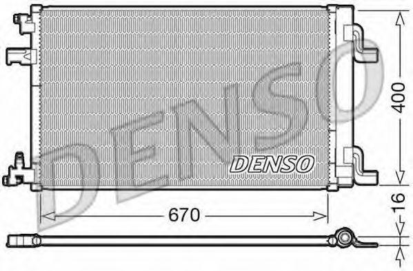 Конденсатор, кондиционер DENSO DCN20002