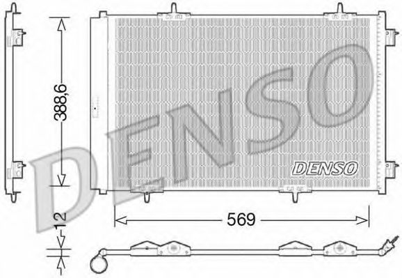 Конденсатор, кондиционер DENSO DCN21030