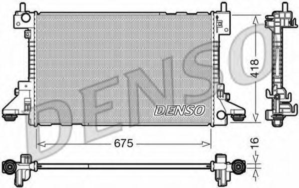 Радиатор, охлаждение двигателя DENSO DRM20006