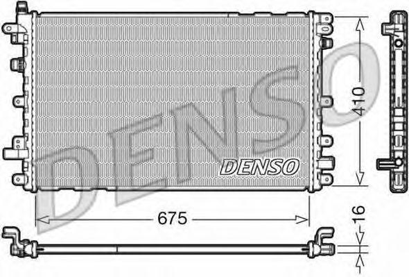 Радиатор, охлаждение двигателя DENSO DRM20113