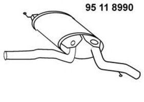 Глушитель выхлопных газов конечный EBERSPECHER 95118990