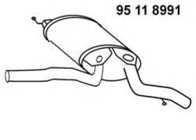 Глушитель выхлопных газов конечный EBERSPECHER 95118991
