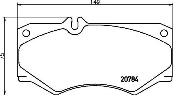 Колодки тормозные MINTEX MDB1585