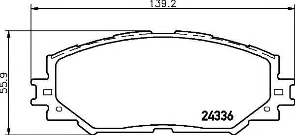 Колодки тормозные MINTEX MDB2785