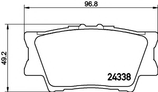 Колодки тормозные MINTEX MDB2787