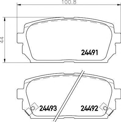 Колодки тормозные MINTEX MDB2866