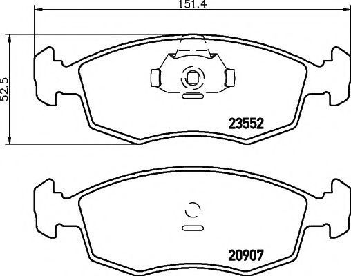 Колодки тормозные MINTEX MDB2076