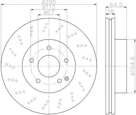 Тормозной диск MINTEX MDC2214