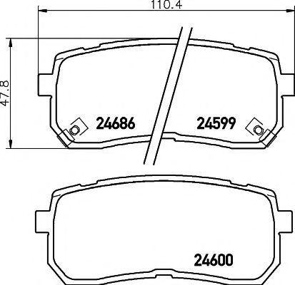Колодки тормозные дисковые MINTEX MDB2922