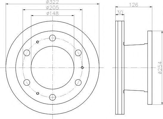 Тормозной диск MINTEX MDC445