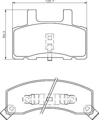 Колодки тормозные MINTEX MDB1778