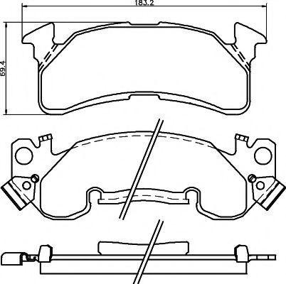 Комплект тормозных колодок, дисковый тормоз MINTEX MDB1790