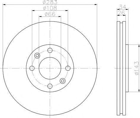 Диск тормозной MINTEX MDC1492
