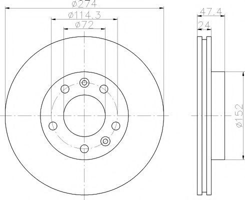 Тормозной диск MINTEX MDC1414