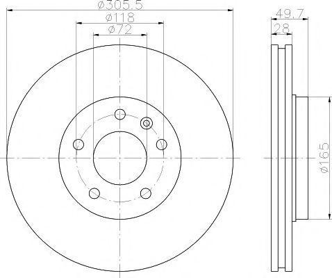 Диск тормозной MINTEX MDC1608
