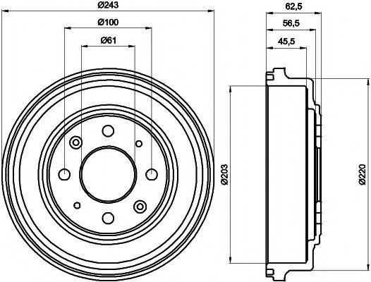 Тормозной барабан MINTEX MBD042