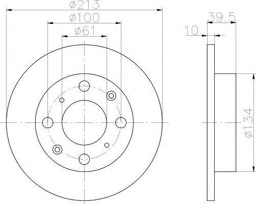 Тормозной диск MINTEX MDC754