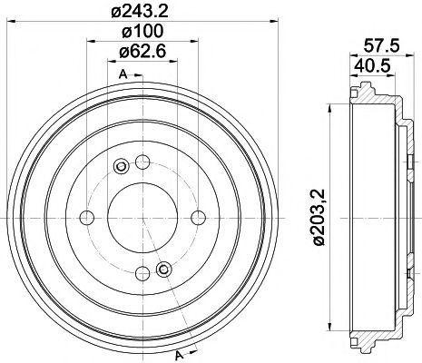 Тормозной барабан MINTEX MBD339