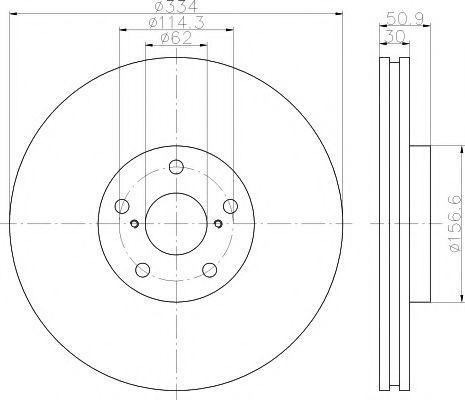 Тормозной диск MINTEX MDC2353R