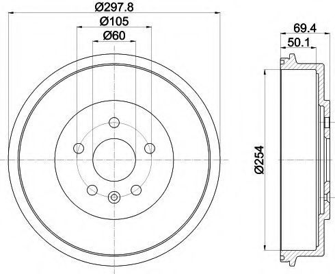 Тормозной барабан MINTEX MBD375