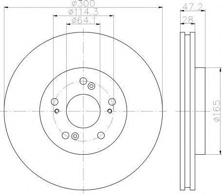Тормозной диск MINTEX MDC2511