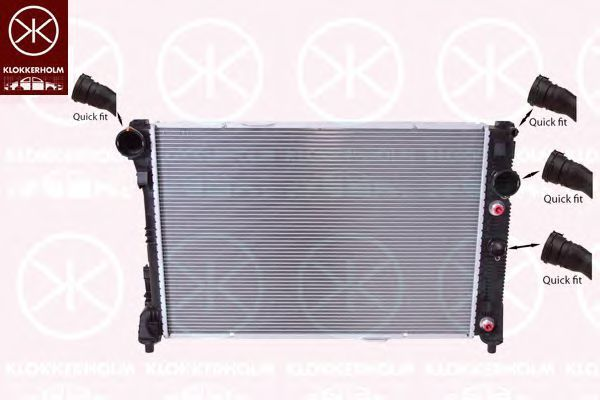 Радиатор, охлаждение двигателя KLOKKERHOLM 3518302491
