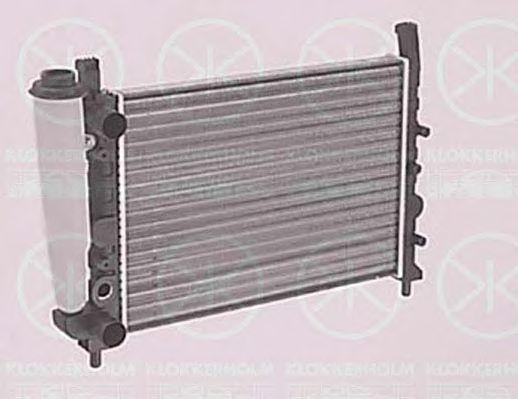 Радиатор, охлаждение двигателя KLOKKERHOLM 2020302040