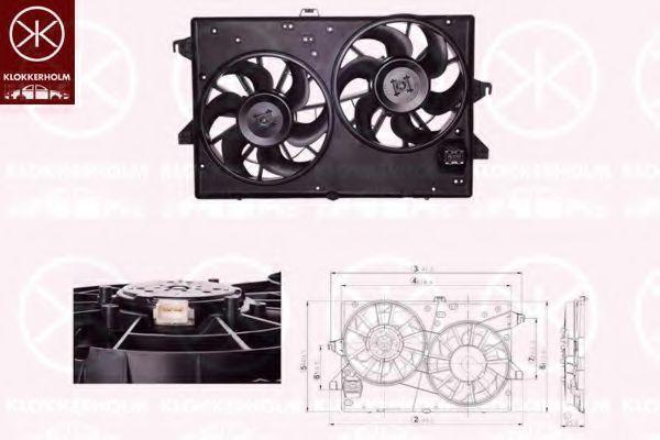 Вентилятор, охлаждение двигателя KLOKKERHOLM 25542602