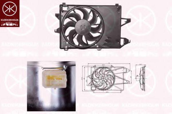 Вентилятор, охлаждение двигателя KLOKKERHOLM 25542601